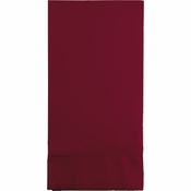 Touch of Color Burgundy 3 Ply Guest Towels in quantities of 16 / pkg, 12 pkgs / case