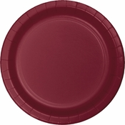 Touch of Color Burgundy Dessert Plates in quantities of 24 / pkg, 10 pkgs / case