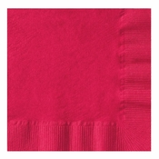 Red Coin Embossed Beverage Napkins in quantities of 250 / pkg, 4 pkgs / case