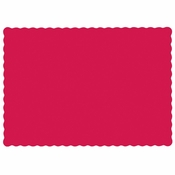 "Red 9.5"" x 13.5"" Economy Paper Placemat, flat packed in quantities of 1000 / case"