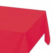 Red Plastic Tablecloths are sold in quantities of 1 / pkg, 12 pkgs / case