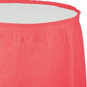Coral Plastic Table Skirt