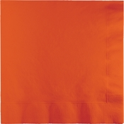 Touch of Color Sunkissed Orange 2 Ply Luncheon Napkins in quantities of 50 / pkg, 12 pkgs / case