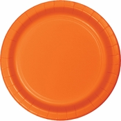 Sunkissed Orange Dessert Plates 96 ct