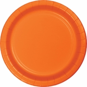 Touch of Color Sunkissed Orange Banquet Plates in quantities of 24 / pkg, 10 pkgs / case