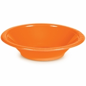 Touch of Color Sunkissed Orange 12 oz Plastic Bowls in quantities of 20 / pkg, 12 pkgs / case