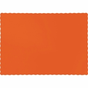Touch of Color Sunkissed Orange Paper Placemats in quantities of 50 / pkg, 12 pkgs / case