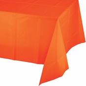 Sunkissed Orange Plastic Tablecloth 12 ct