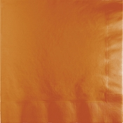 Pumpkin Spice Orange Luncheon Napkins 2 ply 600 ct