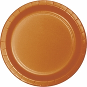 Pumpkin Spice Orange Dessert Plates 240 ct