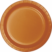Pumpkin Spice Orange Banquet Plates 240 ct