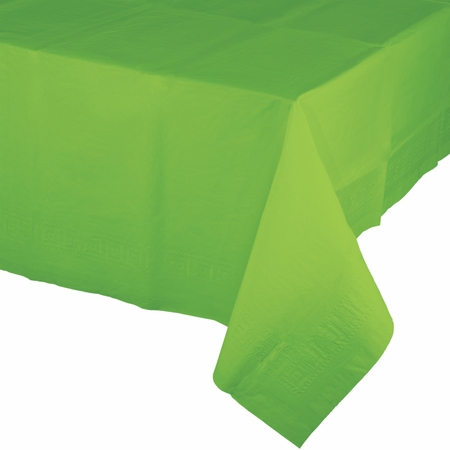 Touch of Color Fresh Lime Paper Tablecloths 6 ct in quantities of 1 / pkg, 6 pkgs / case