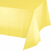Touch of Color Mimosa Plastic Tablecloths in quantities of 1 / pkg, 12 pkgs / case
