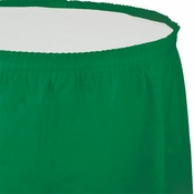 Touch of Color Emerald Green Plastic Tableskirt in quantities of 1 / pkg, 6 pkgs / case