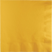 Touch of Color School Bus Yellow 2 Ply Luncheon Napkins in quantities of 50 / pkg, 12 pkgs / case