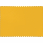 Touch of Color School Bus Yellow Paper Placemats in quantities of 50 / pkg, 12 pkgs / case