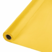 Touch of Color School Bus Yellow Banquet Table Roll in quantities of 1 / pkg, 1 pkg / case