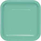 Fresh Mint Green Square Dessert Plates 180 ct