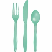 Fresh Mint Green Assorted Plastic Cutlery 216 ct