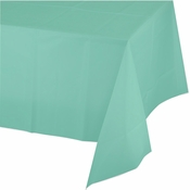 Fresh Mint Green Plastic Tablecloth 12 ct