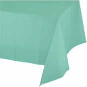Fresh Mint Green Plastic Tablecloth 24 ct