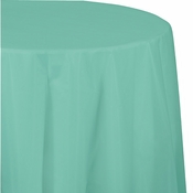 Fresh Mint Green Octy Round tablecloth 12 ct