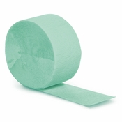 Fresh Mint Green Crepe Streamers 12 ct