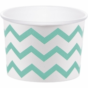 Mint Green Chevron Treat Cups 72 ct