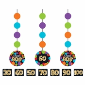 Balloons Birthday Hanging Cutout Decorations 36 ct