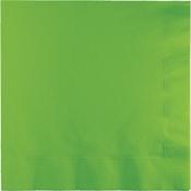 Touch of Color Fresh Lime 2 Ply Luncheon Napkins 600 ct in quantities of 50 / pkg, 12 pkgs / case