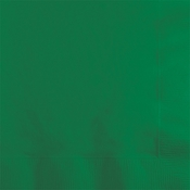 Touch of Color Emerald Green 2 ply Beverage Napkins in quantities of 50 / pkg, 12 pkgs / case