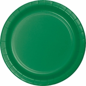 Touch of Color Emerald Green Dinner Plates in quantities of 24 / pkg, 10 pkgs / case