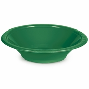 Touch of Color Emerald Green 12 oz Plastic Bowls in quantities of 20 / pkg, 12 pkgs / case