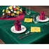 "Hunter Green Linen-Like 50"" x 108"" Tablecloths sold in quantities of 1 / pkg, 20 pkgs / case"