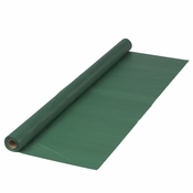 "Hunter Green Plastic Banquet Table Roll measures 40"" x 100 sold in quantities of 1 / pkg, 1 pkg / case"