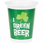 Green Beer 16 oz Plastic Cup 96 ct