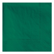 Hunter Green Hoffmaster Beverage Napkins in quantities of 250 / pkg, 4 pkgs / case