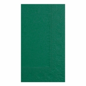 Hunter Green Hoffmaster Dinner Napkins in quantities of 125 / pkg, 8 pkgs / case