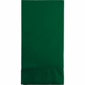 Touch of Color Hunter Green 3 Ply Guest Towels in quantities of 16 / pkg, 12 pkgs / case