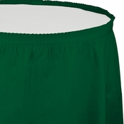 Hunter Green Tableskirt Plastic  6 ct
