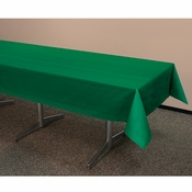 "54"" x 108"" Hunter Green Plastic Tablecloths 12 ct"