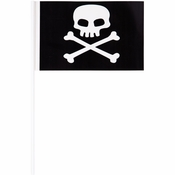 Plastic Pirate Flag Banners 48 ct