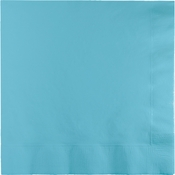 Touch of Color Pastel Blue 2 Ply Luncheon Napkins in quantities of 50 / pkg, 12 pkgs / case