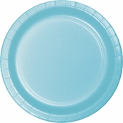 Touch of Color Pastel Blue Dessert Plates in quantities of 24 / pkg, 10 pkgs / case