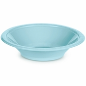 Touch of Color Pastel Blue 12 oz Plastic Bowls in quantities of 20 / pkg, 12 pkgs / case
