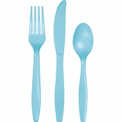 Pastel Blue Assorted Cutlery 216 ct