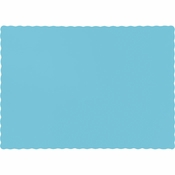 Touch of Color Pastel Blue Paper Placemats in quantities of 50 / pkg, 12 pkgs / case