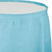 Touch of Color Pastel Blue Plastic Tableskirt in quantities of 1 / pkg, 6 pkgs / case