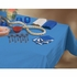 """Marina Blue Cellutex Paper Tablecloths measures 54"""" x 108"""" constructed of 2 ply tissue, 1 ply poly and sold in quantities of 1 / pkg, 25 pkgs / case"""