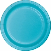 Touch of Color Bermuda Blue Dessert Plates 240 ct in quantities of 24 / pkg, 10 pkgs / case